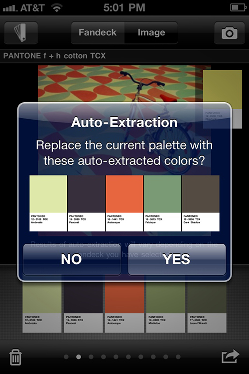 myPANTONE will create the color story that you can fine tune.