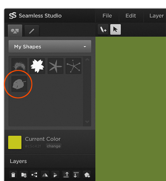 From the My Shapes tab in the Shapes pane, you'll see your newly imported shape.
