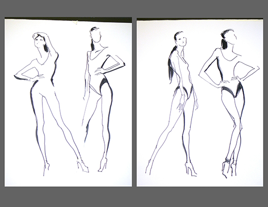 The original gestures by Clifford Faust.